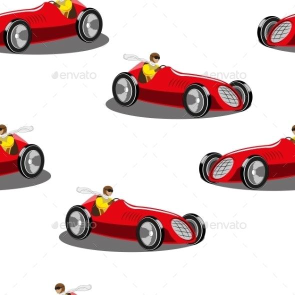 Sports Car - Patterns Decorative