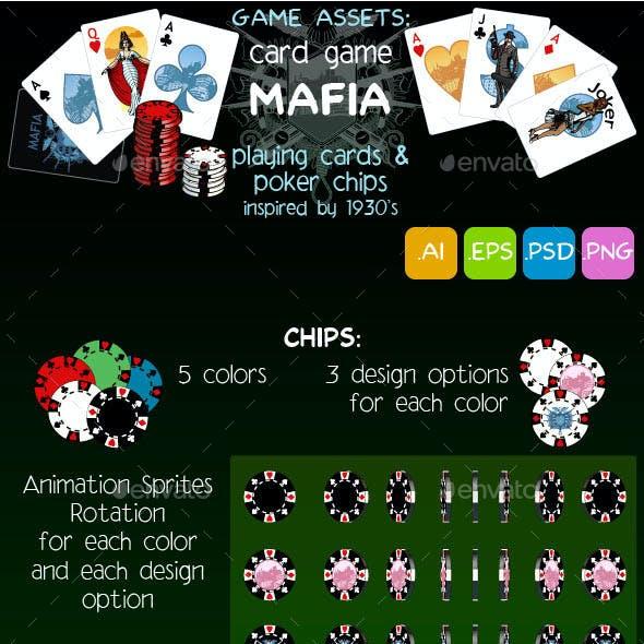 Game Assets: Mafia Card Set & Poker Chips