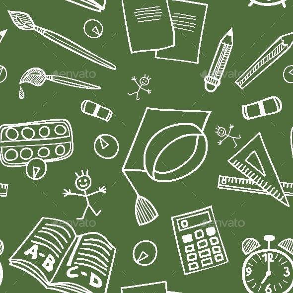 Back to School Seamless Pattern - Patterns Decorative