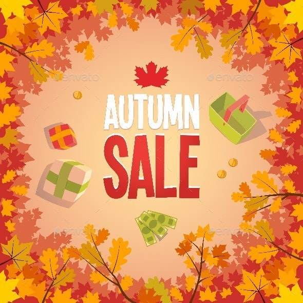 Autumn Sale Advertising Poster - Commercial / Shopping Conceptual