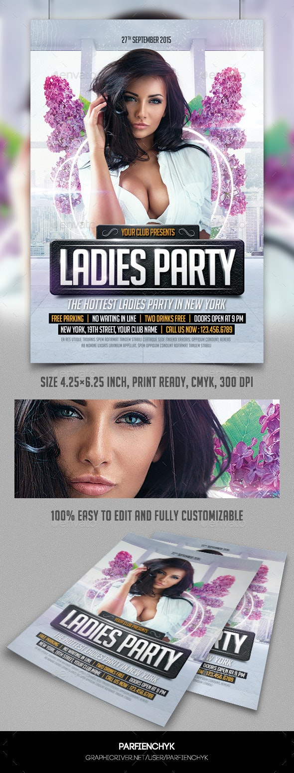 Ladies Party Flyer Template - Clubs & Parties Events