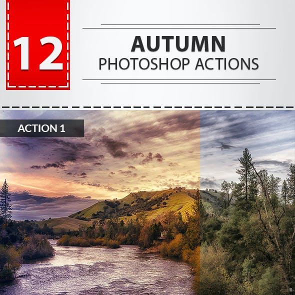12 Autumn Photoshop Actions