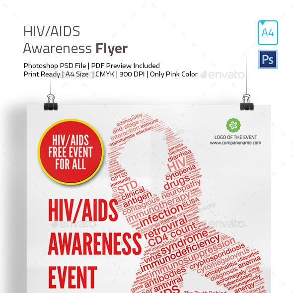 HIV and AIDS Awareness Flyer