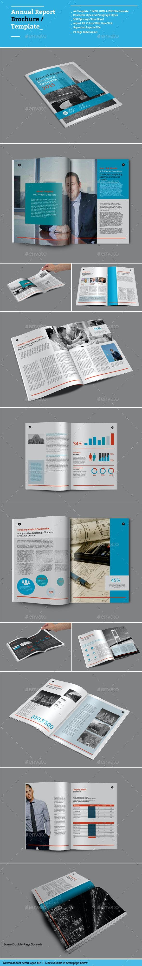 Annual Report Brochure Templates - Informational Brochures