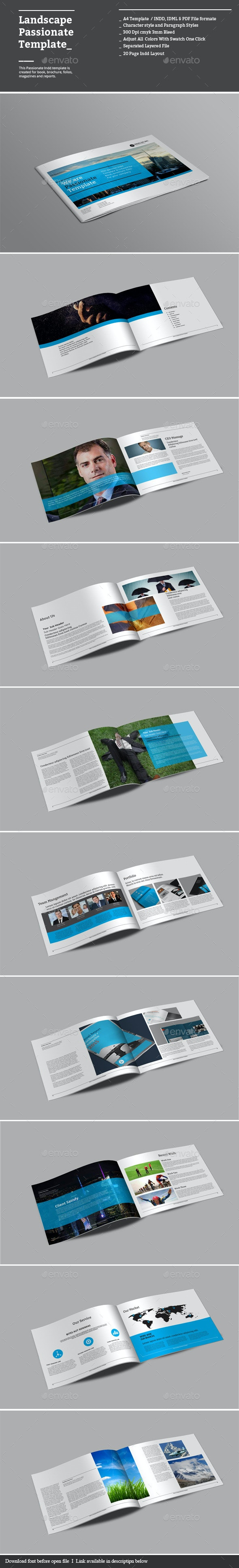 Landscape Passionate Templates - Corporate Brochures
