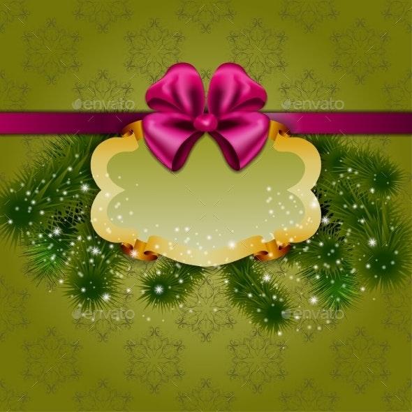 Festive Christmas Background with Frame - Christmas Seasons/Holidays