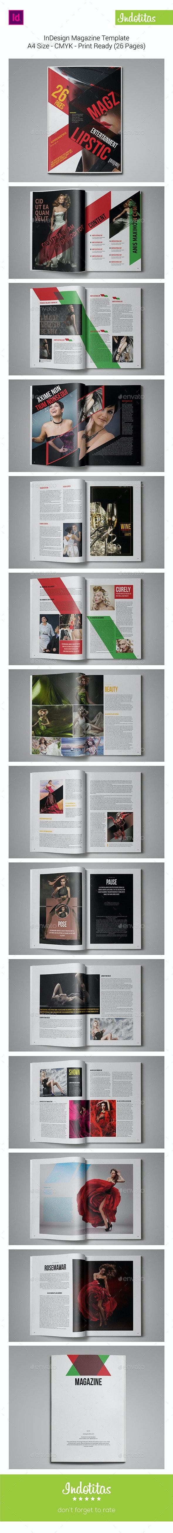 InDesign MagazineTemplate - Magazines Print Templates