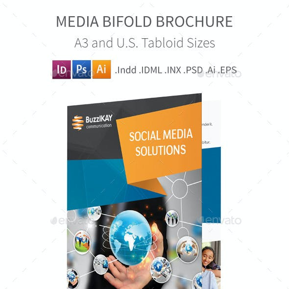 Media and Communication Bifold / Halffold Brochure