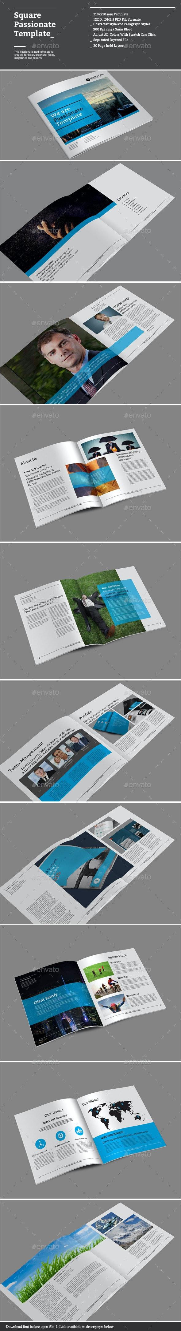 Square Passionate Templates - Corporate Brochures