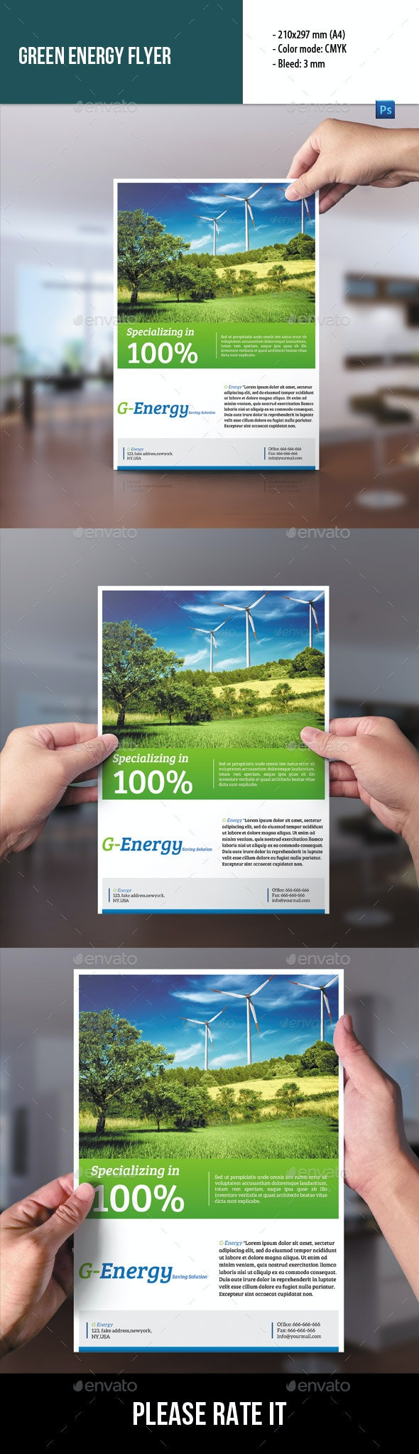 Green Energy Flyer - Corporate Flyers