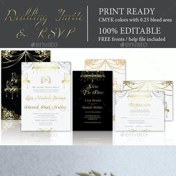 Premium Wedding Invitation & RSVP