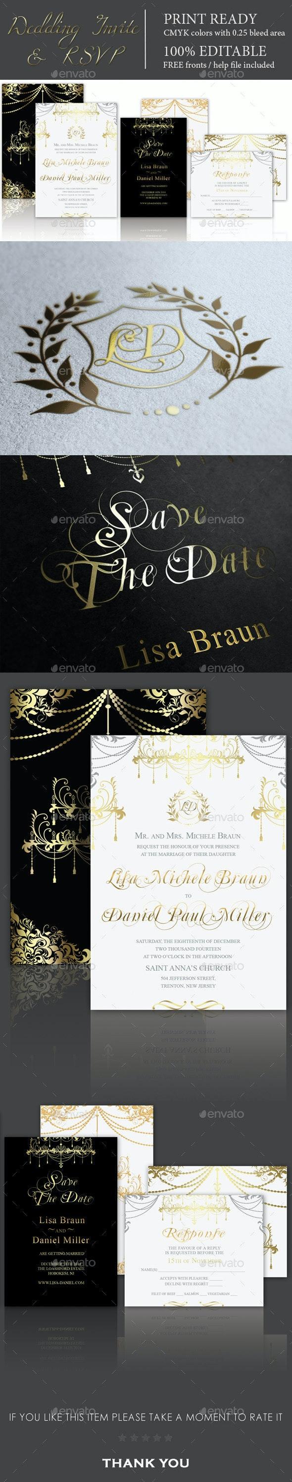 Premium Wedding Invitation & RSVP - Weddings Cards & Invites