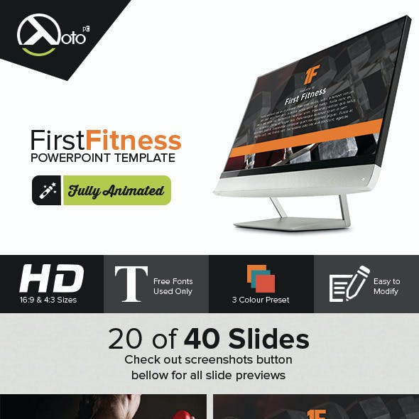First Fitness Gym & Product Company Presentation