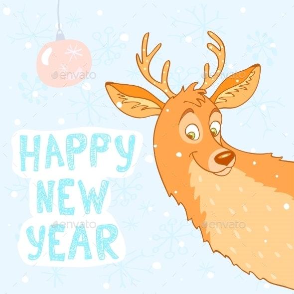 Deer New Year - Christmas Seasons/Holidays