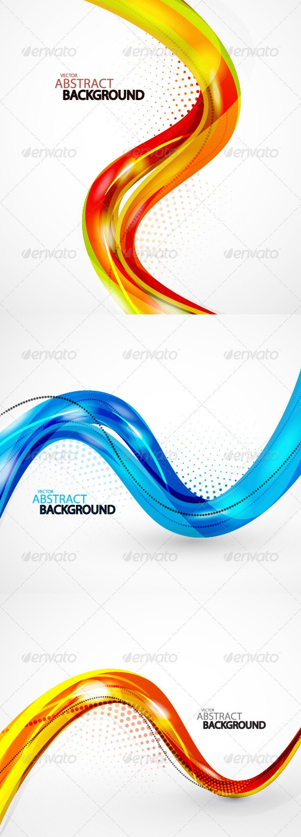 Pack of abstract backgrounds - Abstract Conceptual