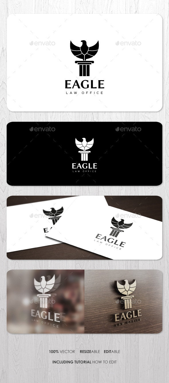 Eagle Law Office Logo - Animals Logo Templates