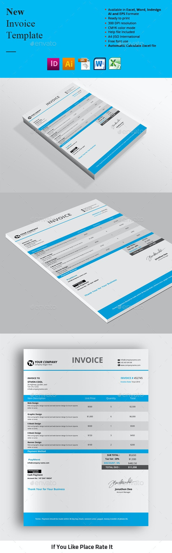 New Invoice Templates - Proposals & Invoices Stationery