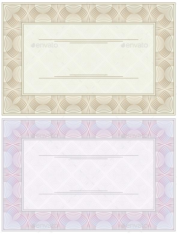 Blank Voucher - Borders Decorative