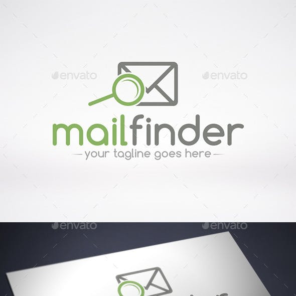 Mail Finder Logo Template
