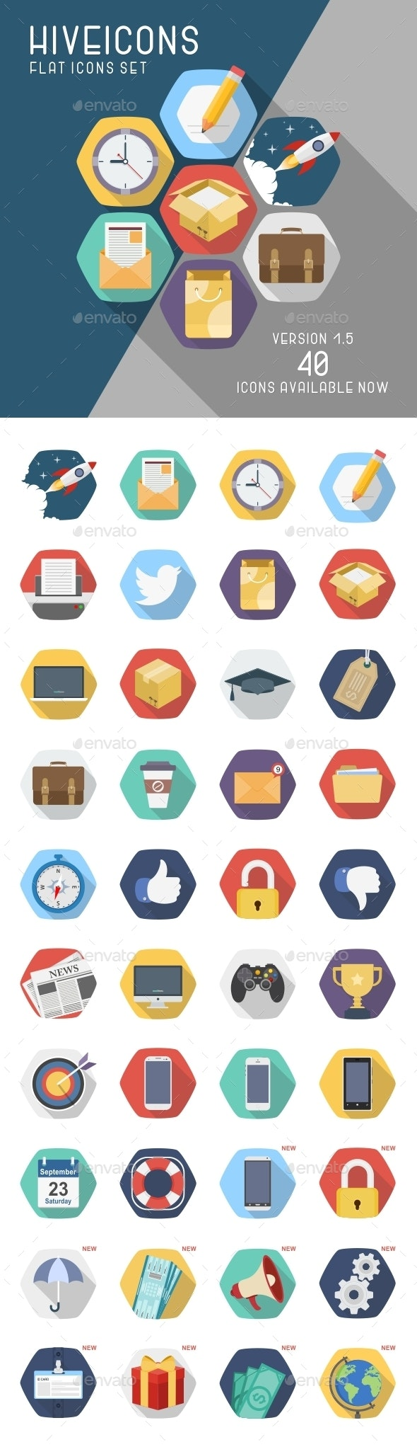 Hive Icons Set - Business Icons