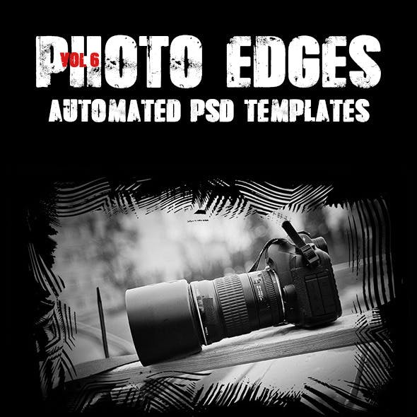 Cool Photo Edges Automated PSD Templates Vol 6