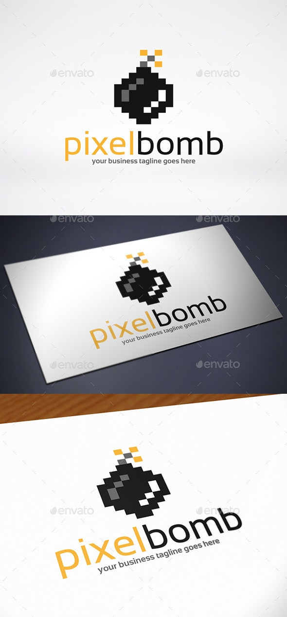 Pixel Bomb Logo Template - Objects Logo Templates