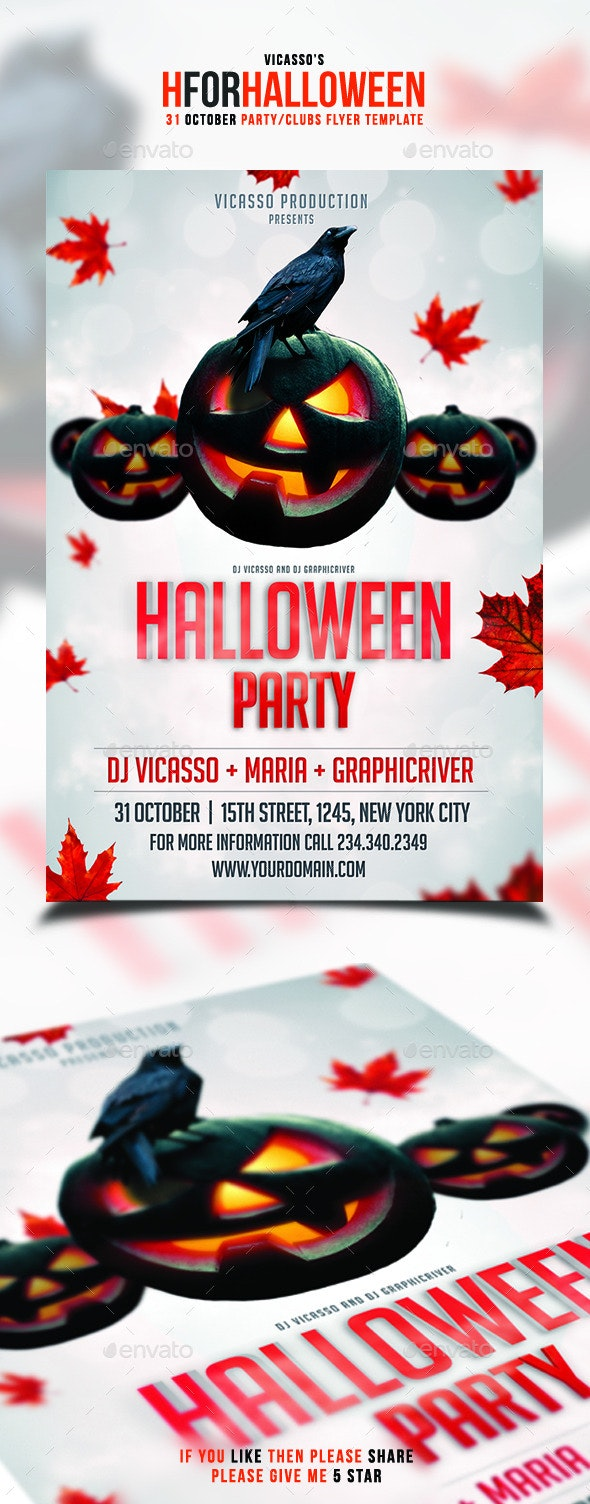 H for Halloween - Events Flyers