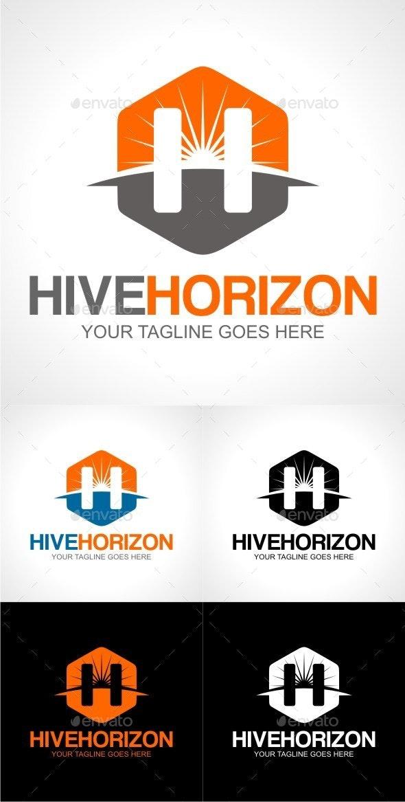 Hive Horizon - Letters Logo Templates