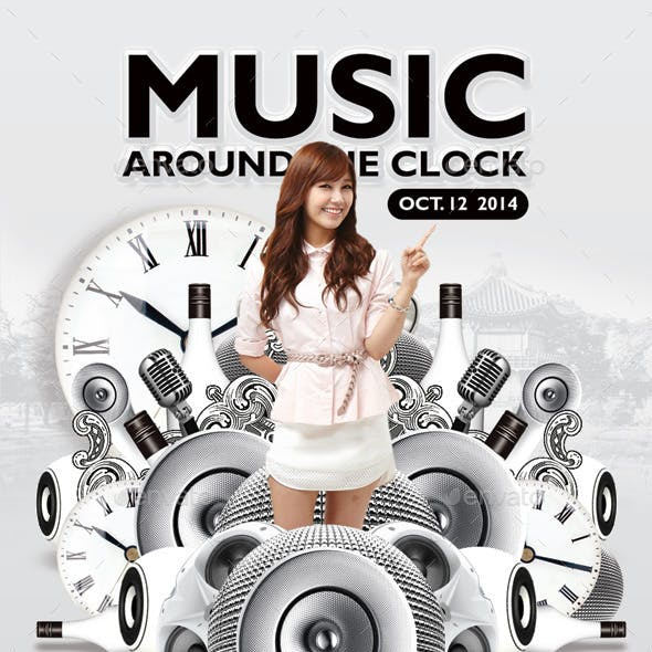 Music Around The Clock Party In Club