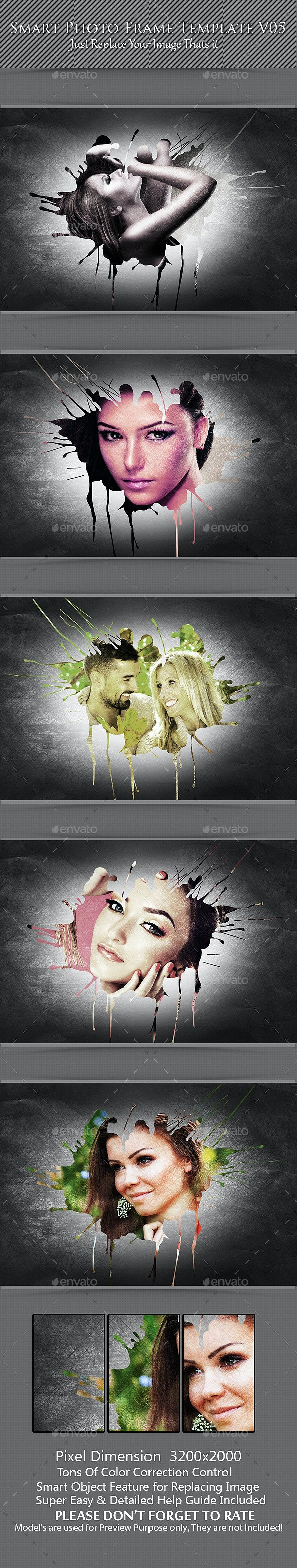 Smart Photo Frame Template V05 - Photo Templates Graphics