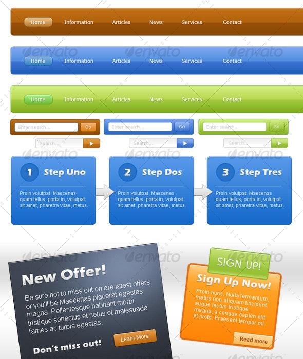 Modern Web Kit | Sleek, Modern and Colorful - Miscellaneous Web Elements