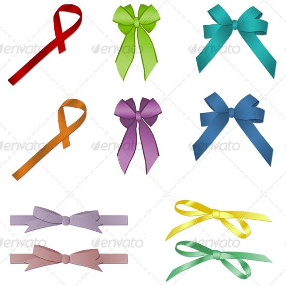 Ribbons set - Objects Illustrations