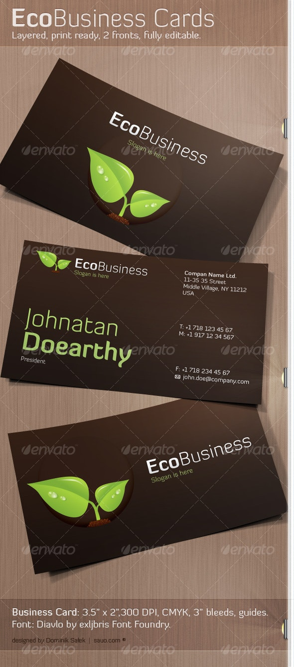 EcoBusiness Card - Creative Business Cards