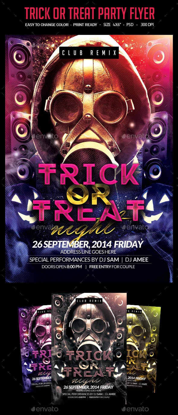 Trick Or Treat Halloween Flyer - Clubs & Parties Events
