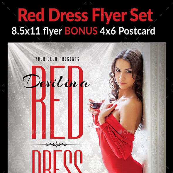 Red Dress Flyer Set