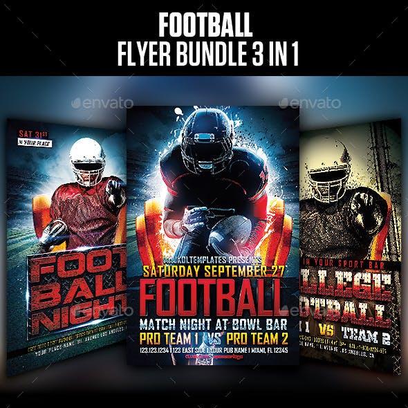 Football Flyer Bundle 3 in 1