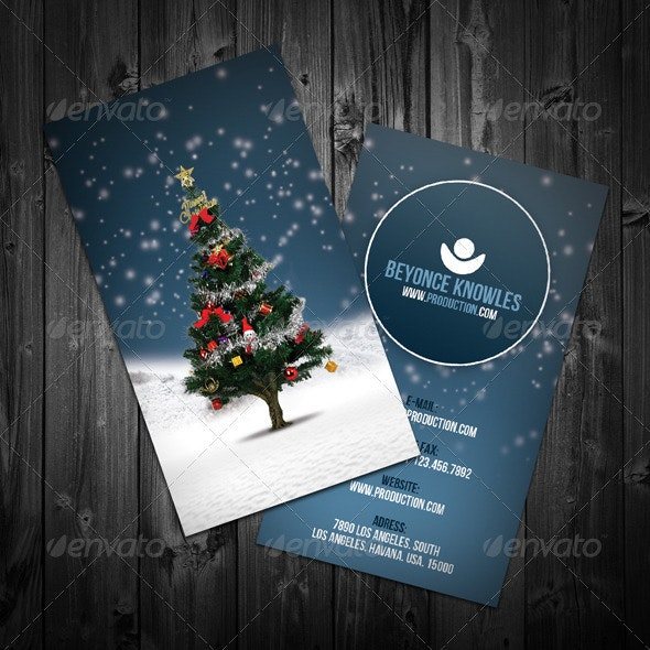 Christmas Business Card - Industry Specific Business Cards