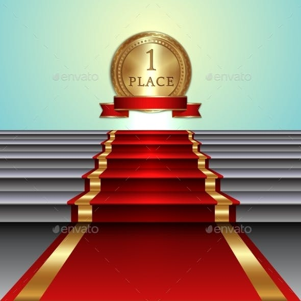 Abstract Illustration of Red Carpet