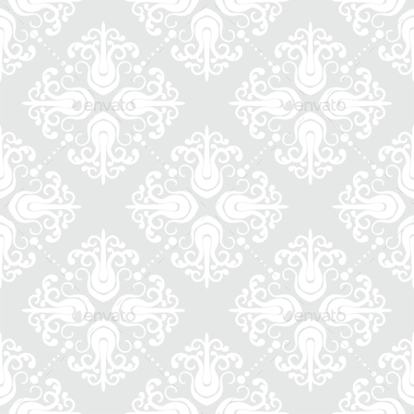 White Geometric Texture in Art Deco Style - Patterns Decorative