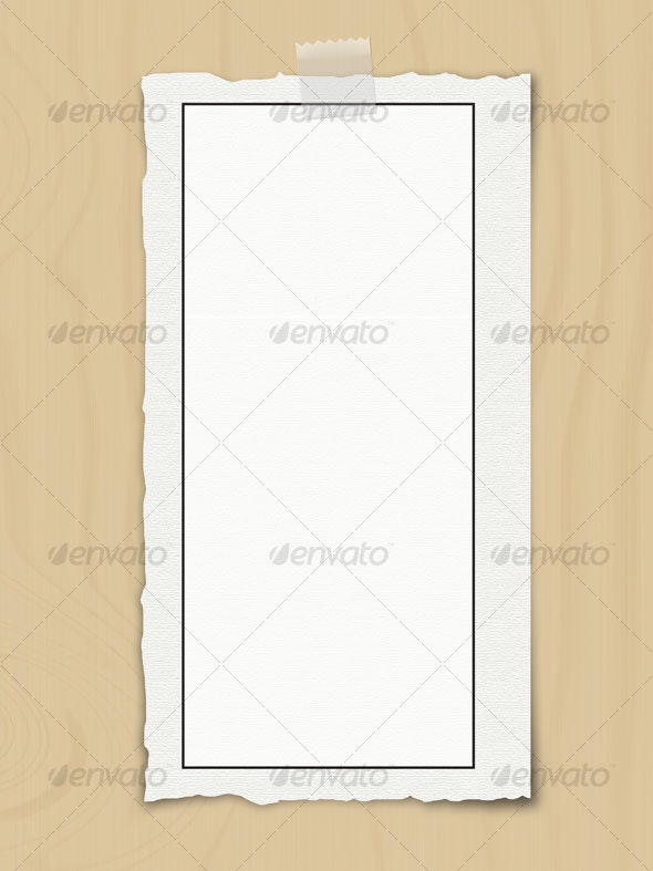 Ripped Paper with Tape - Backgrounds Graphics