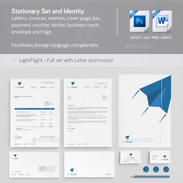 Clean & Modern Stationery, Invoice and Identity 2