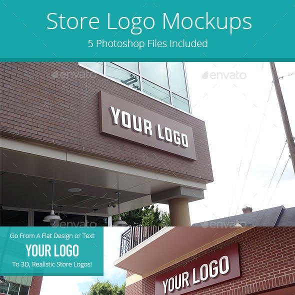 Store Logo Mock Ups