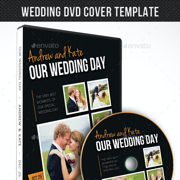 Wedding DVD Cover Template 09