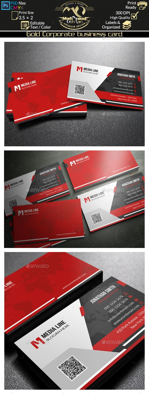 Corporate Business Card 50 - Corporate Business Cards