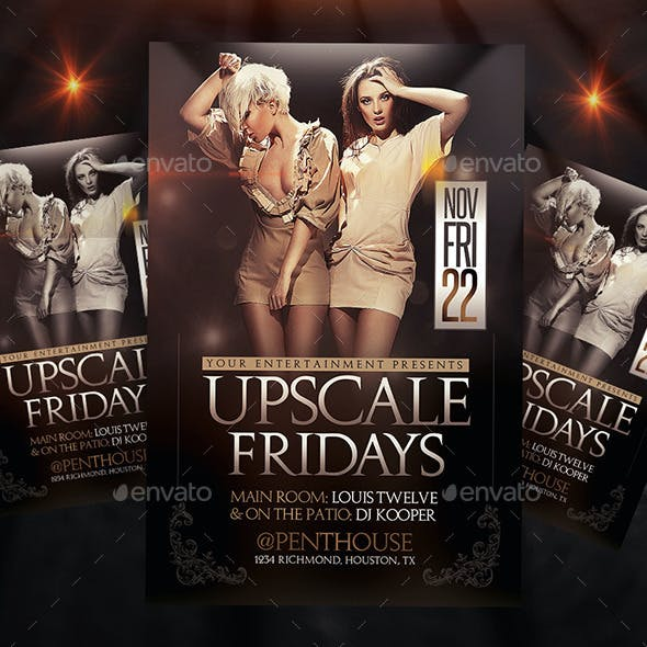 Upscale Fridays | Flyer + FB Cover
