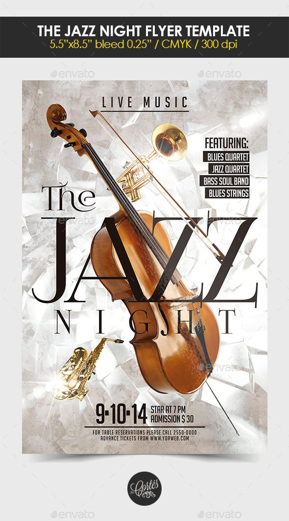 The Jazz Night Flyer Template - Concerts Events