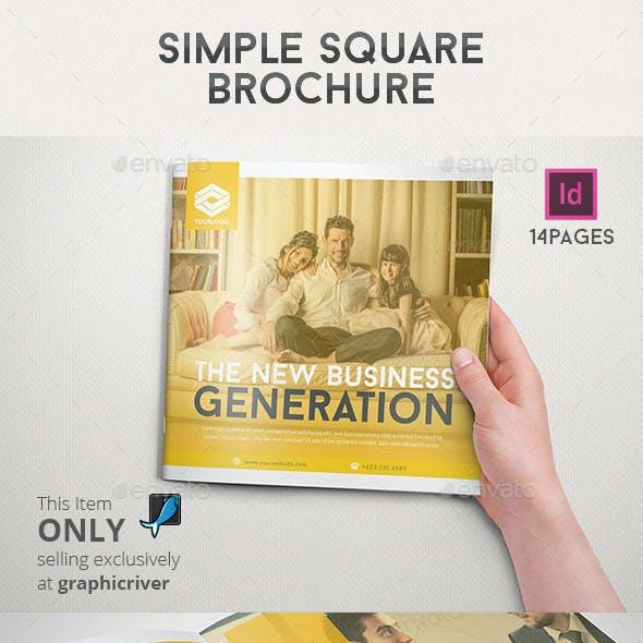 Simple Square Brochure
