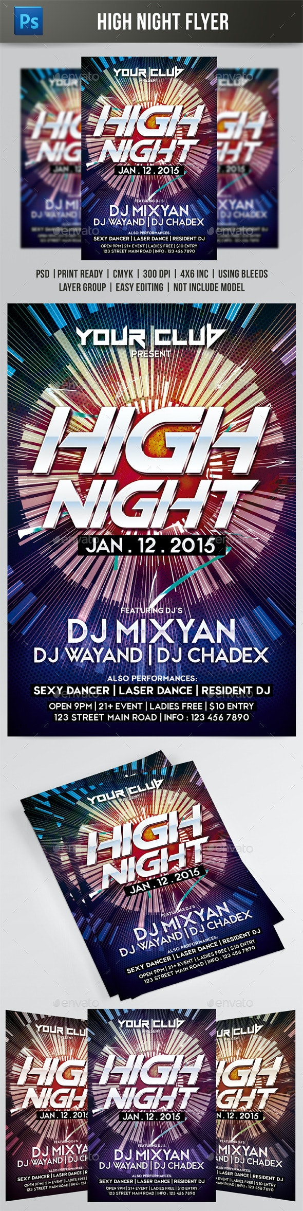 High Night Flyer - Events Flyers