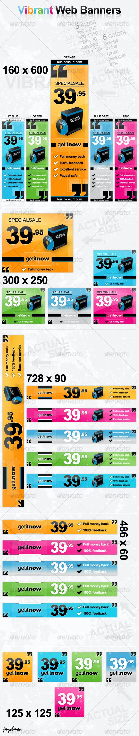 Vibrant Web Banner Set - Web Elements