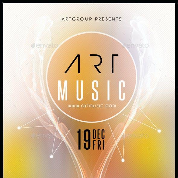 Art Music Flyer Template